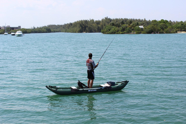 Saturn ocean pro angler inflatable fishing kayaks for Stand up fishing kayak
