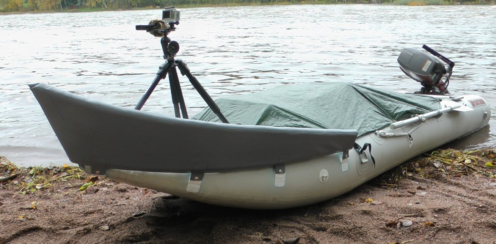 Custom Made Front Bow Splash Guard for Inflatable KaBoat SK430.