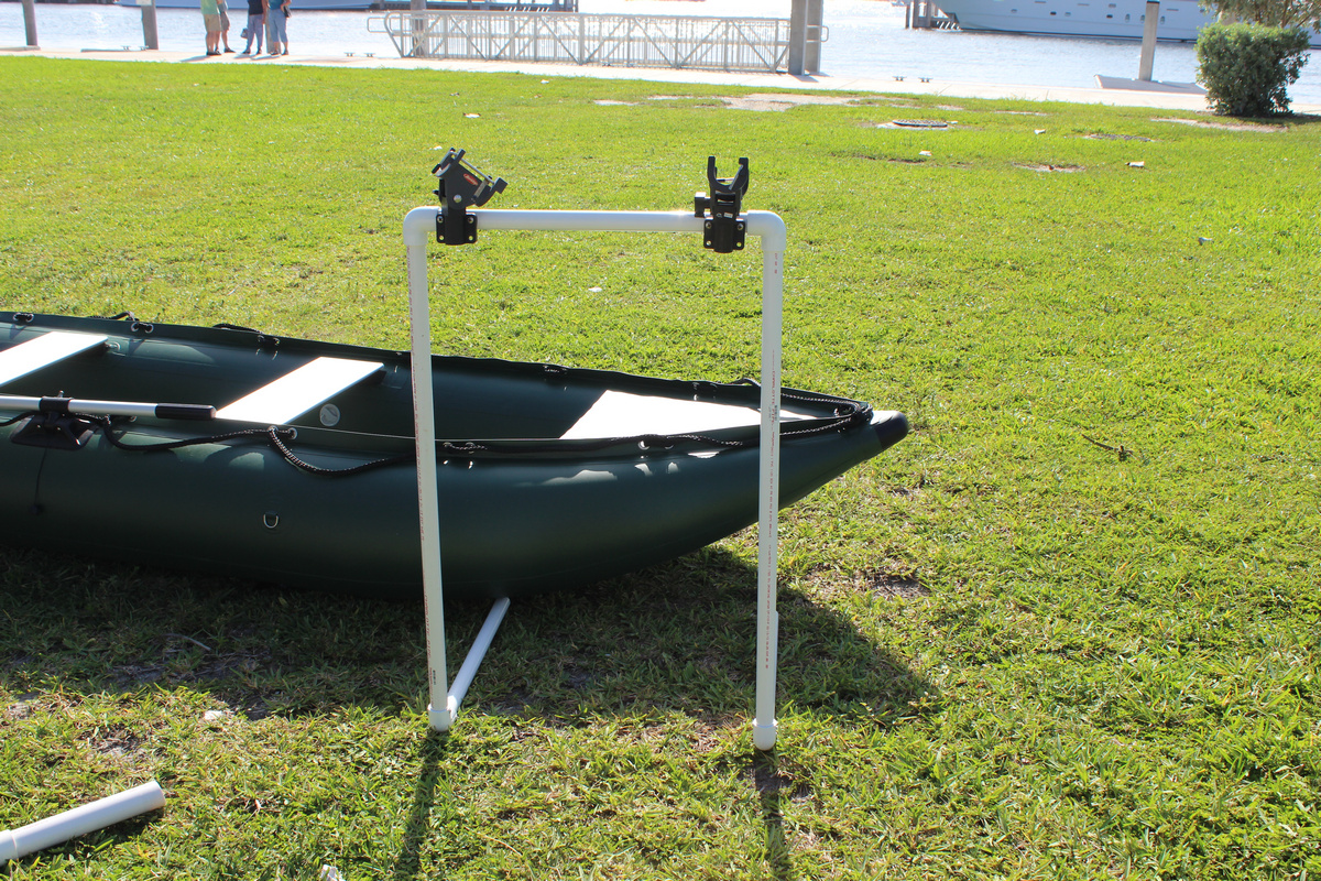 Diy rod holder for inflatable boat diy do it your self for Diy fishing rod holder for boat