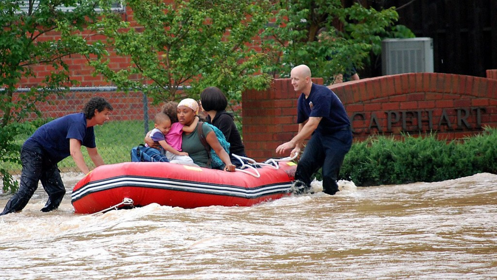 Saturn Inflatable Boats Are Great for Flood Rescue