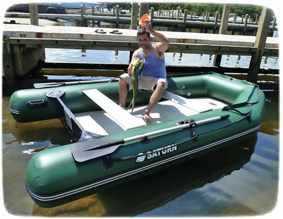 Saturn Inflatable Fishing Boat SD330W