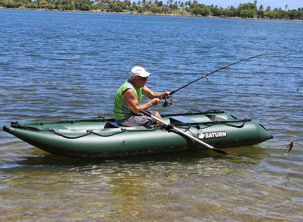Saturn Inflatable Kayak  Boat Crossover KaBoat great for Fishing!
