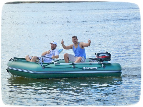 Saturn 11' Extra Wide Inflatable Boat for Fishing And Hunting.