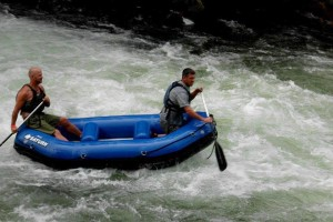 Saturn 9.6' Inflatable River Raft RD290 on Class IV whitewater river.