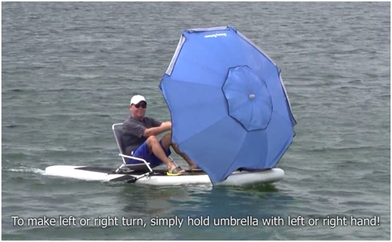 SUP Umbrella Boarding - New Sport!