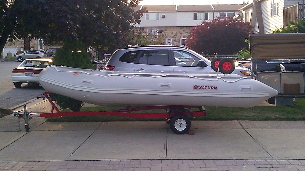 Aluminium Launching Wheels For Inflatable Boat Dinghy