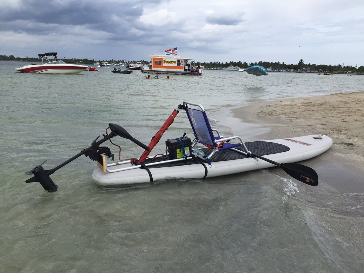 Install Electric Motor on Any SUP Paddle Board.
