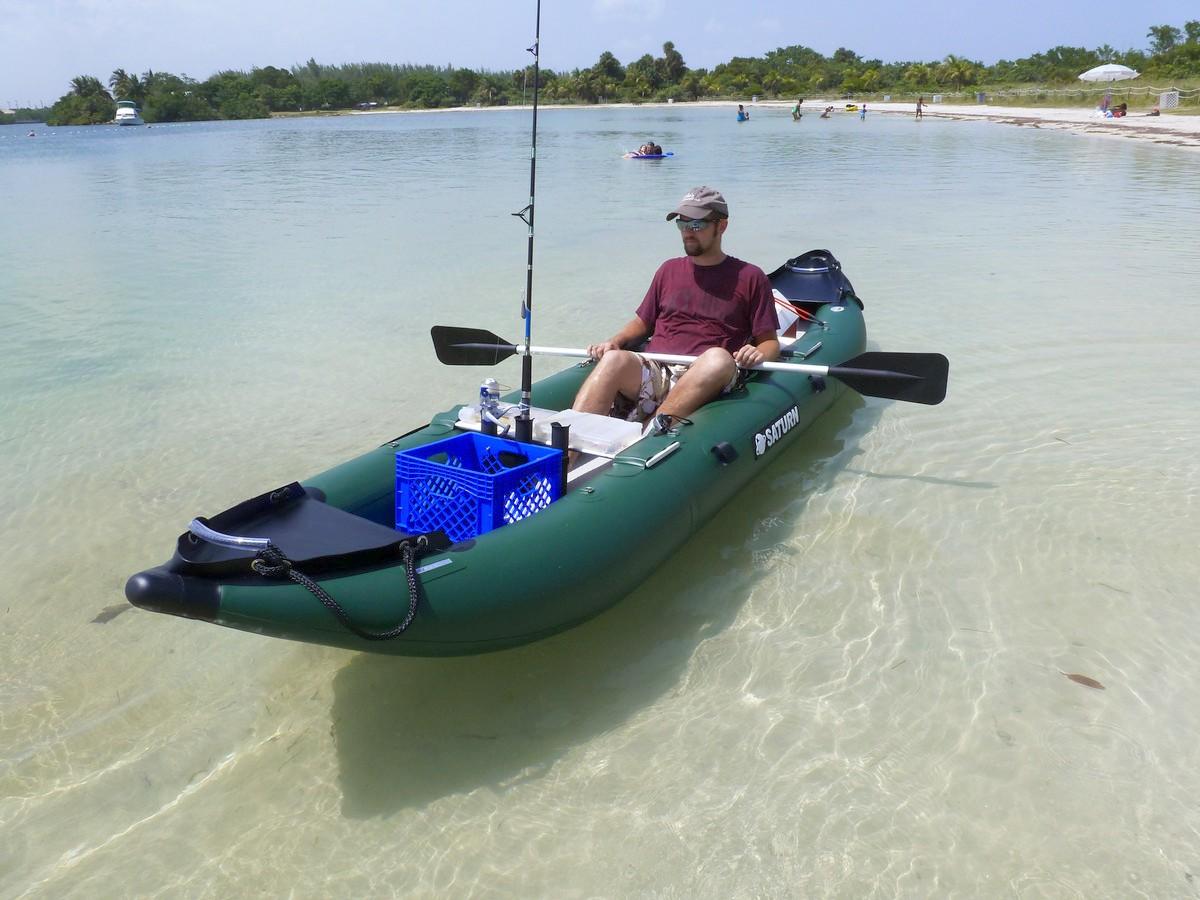 Saturn 13 39 fk396 pro angler series inflatable fishing kayaks for Portable fishing boat