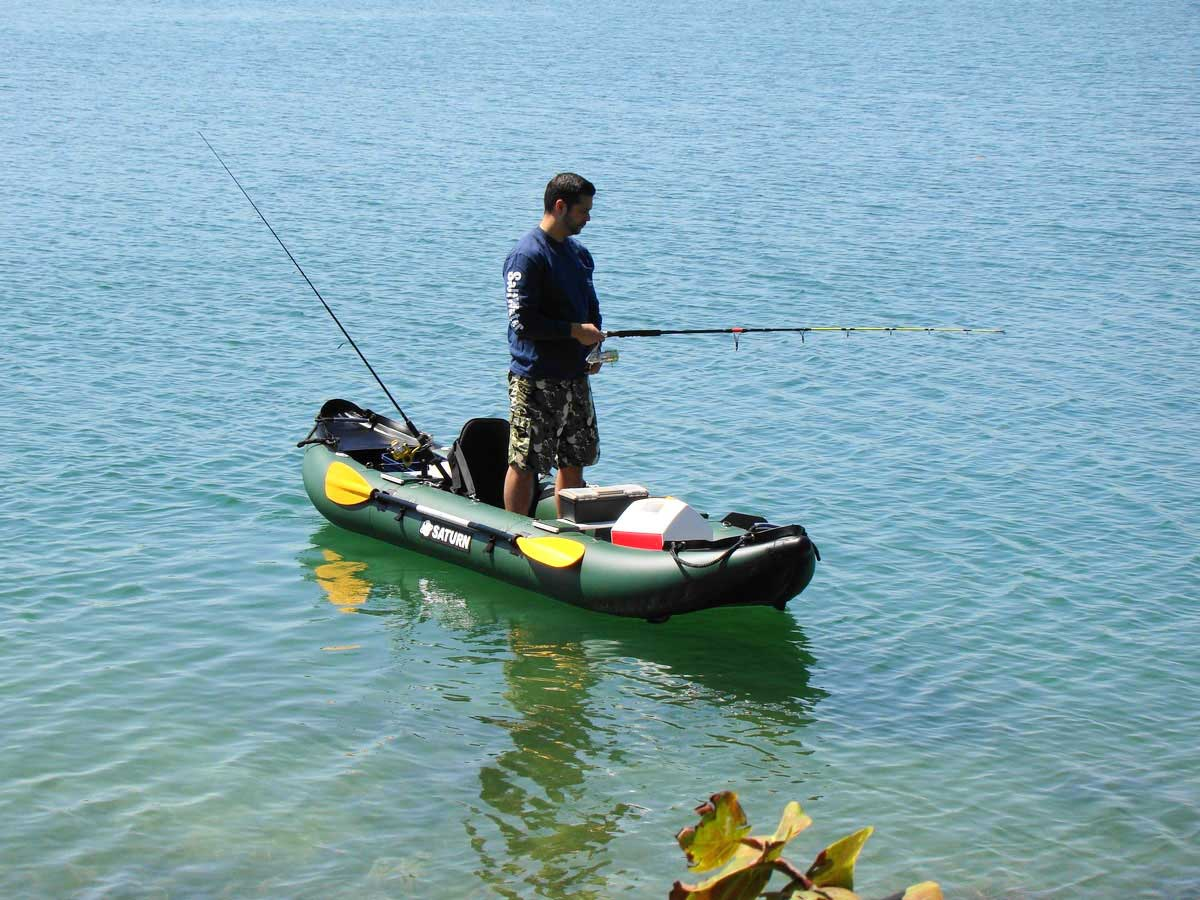 Saturn 13 39 fk396 pro angler series inflatable fishing kayaks for Fishing from a canoe