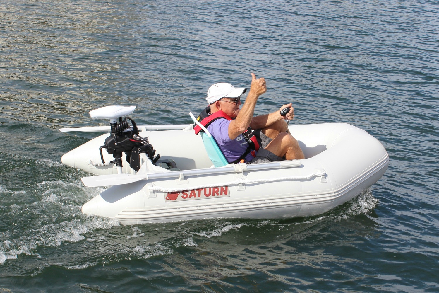 DELUXE REMOTE CONTROLED 55 lbs TRUST ELECTRIC TROLLING ...