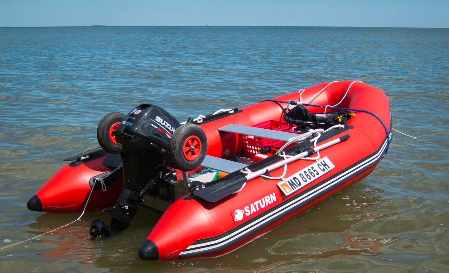 Saturn 12 39 inflatable sport runabouts are largest boats for Inflatable fishing boats