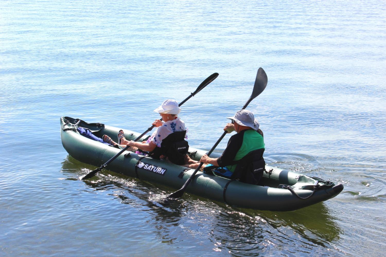 Saturn ocean pro angler inflatable fishing kayaks for Two seater fishing kayak