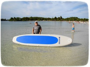 Inflatable SUP Paddle Board by Saturn