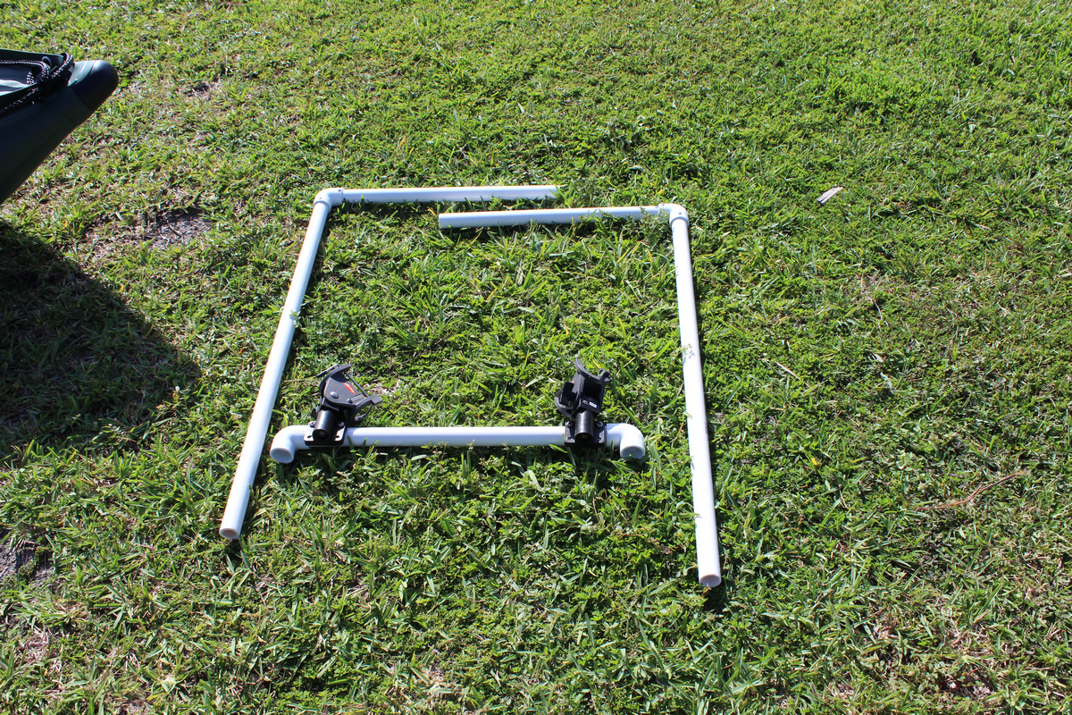 How To Make Custom Made Frame For Fishing Rod Holders Out Of Pvc