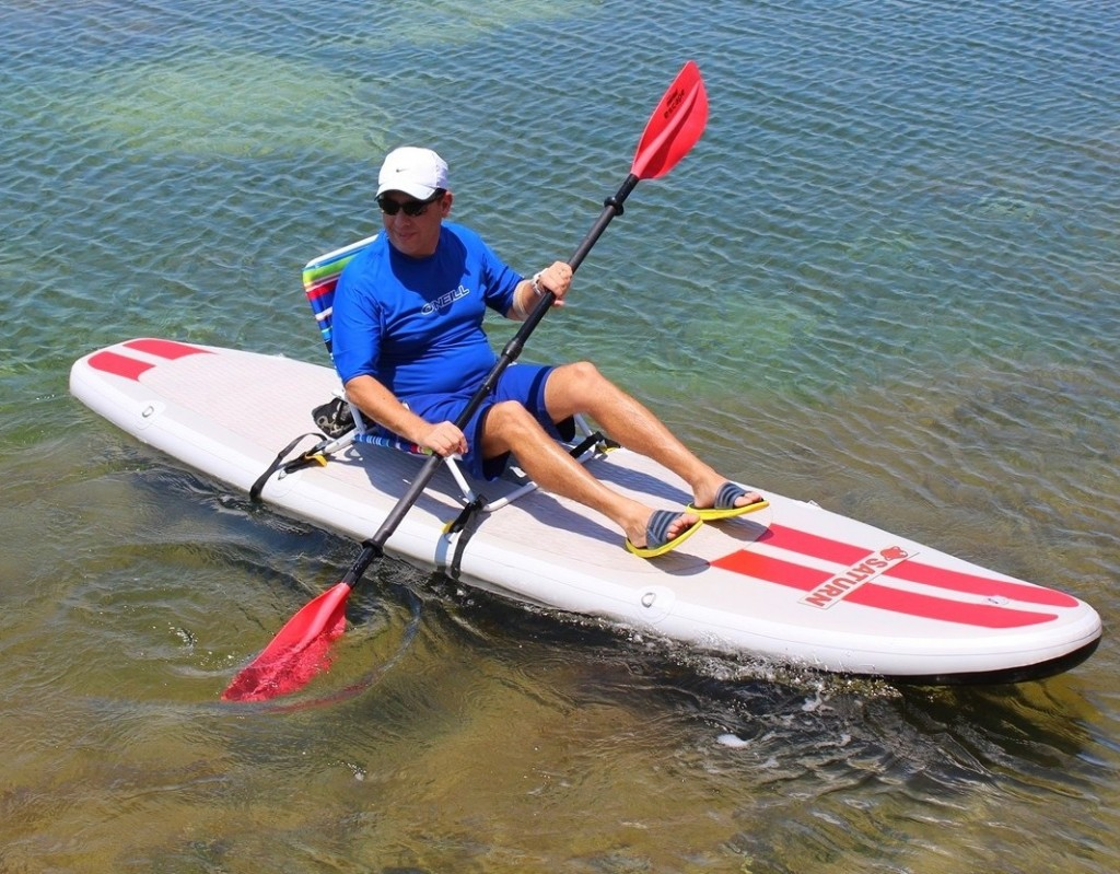Saturn Inflatable SUP great as Sit On Top Kayak